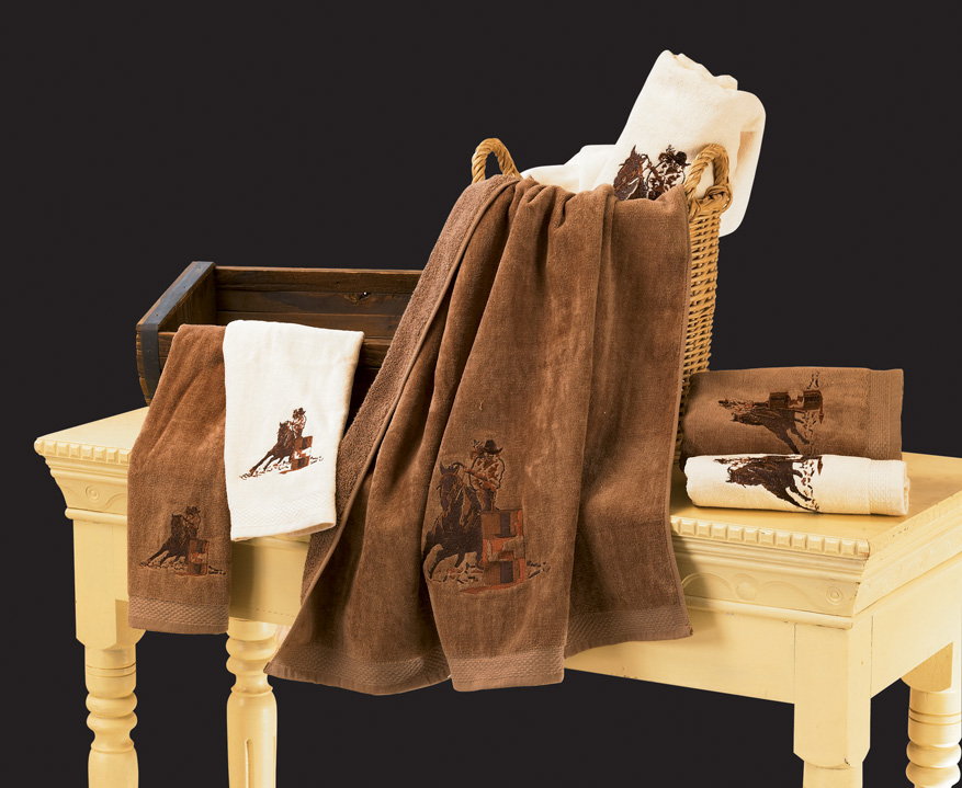 3pc Embroidered Barrel Racer Towel Set