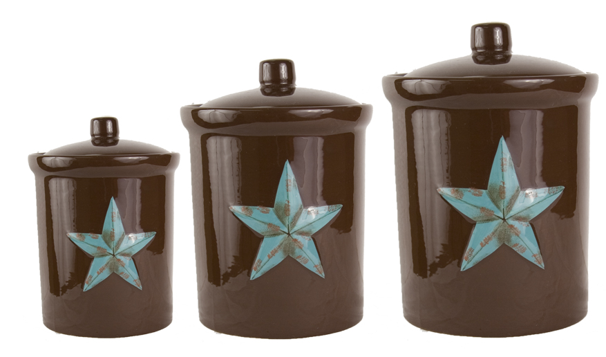 Rustic Star Canister Set