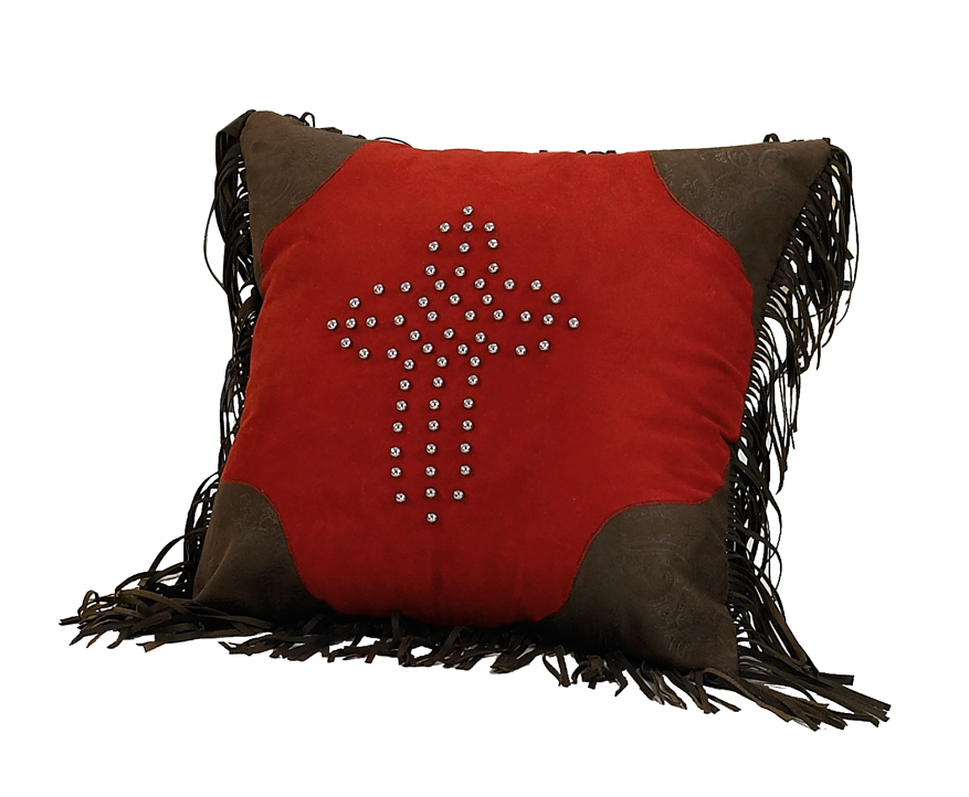 Red Rodeo Cross Pillow
