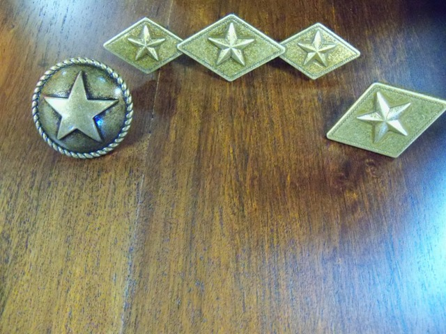 Brass  Star Diamond Cabinet Pulls