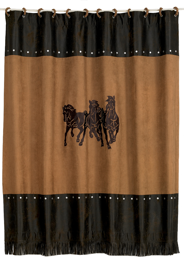 Horse Burst Shower Curtain