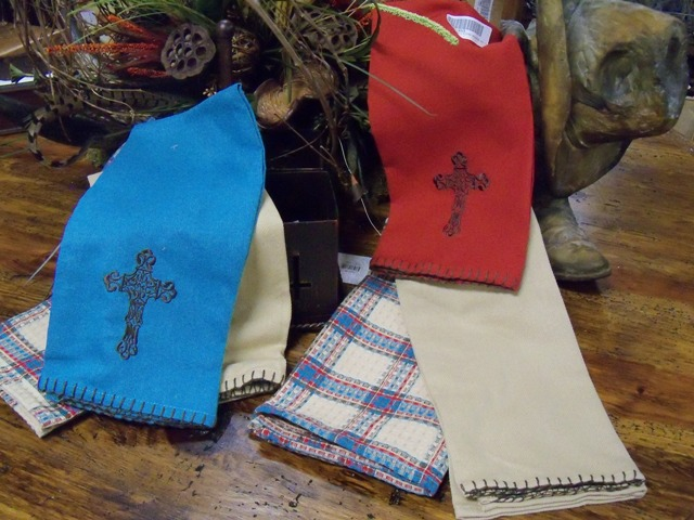 Cross Embroidered Kitchen Towels