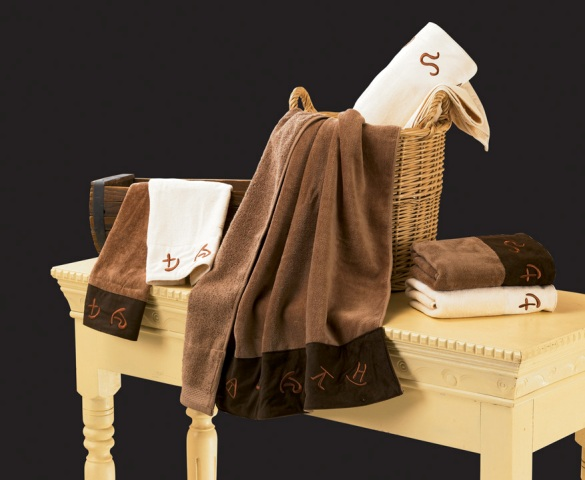 3pc Embroidered Brands Towel Set