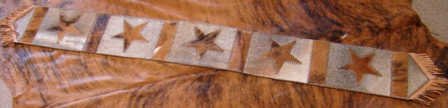 Cowhide Star Table Runner 5 stars