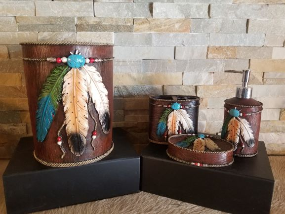 Feather Bath Accessories