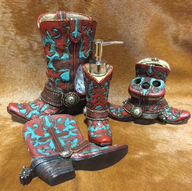 Western Boot Bath Decor