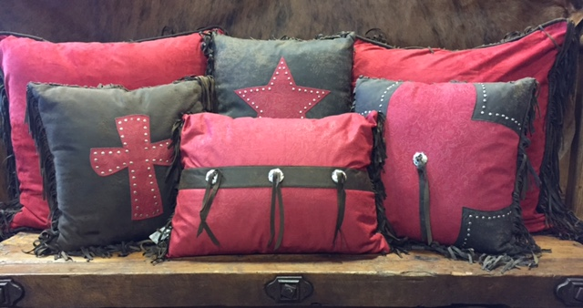 Red Cheyenne Accent Pillows