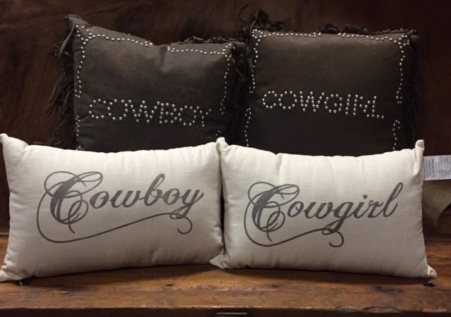 Cowgirl & Cowboy Pillows
