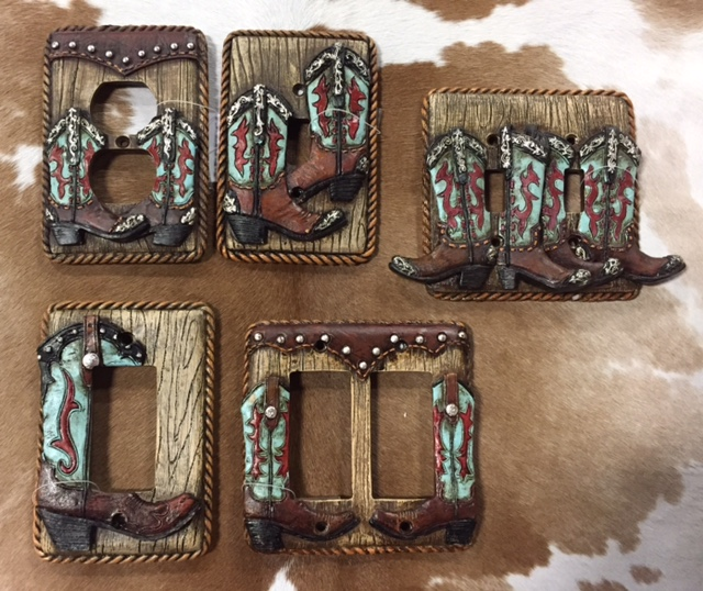 Double Boot Switch Plate Cover
