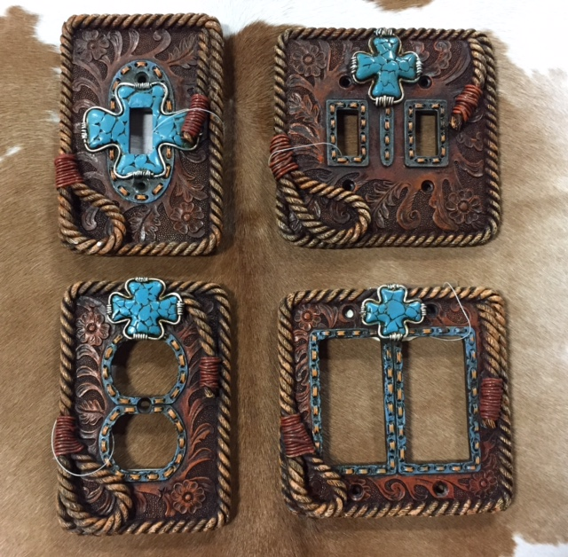 Turquoise Cross Switch Plates