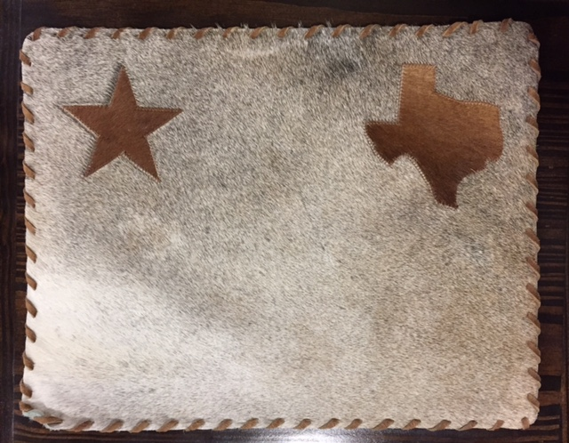 Cowhide Placemat Texas and Star
