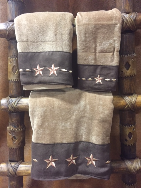 3pc Embroidered Star Towel Set