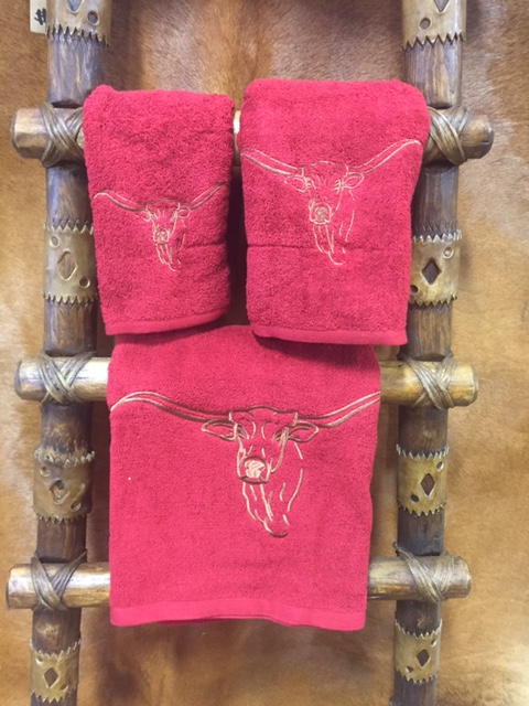 Longhorn Bath Towels
