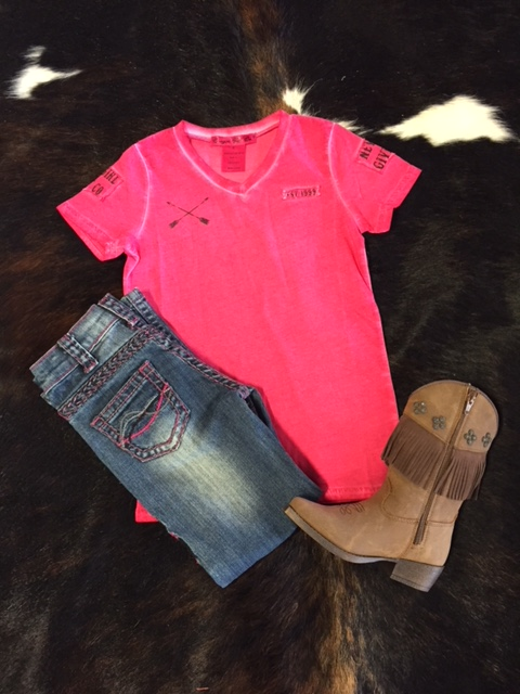 Little Cowgirls V-Neck