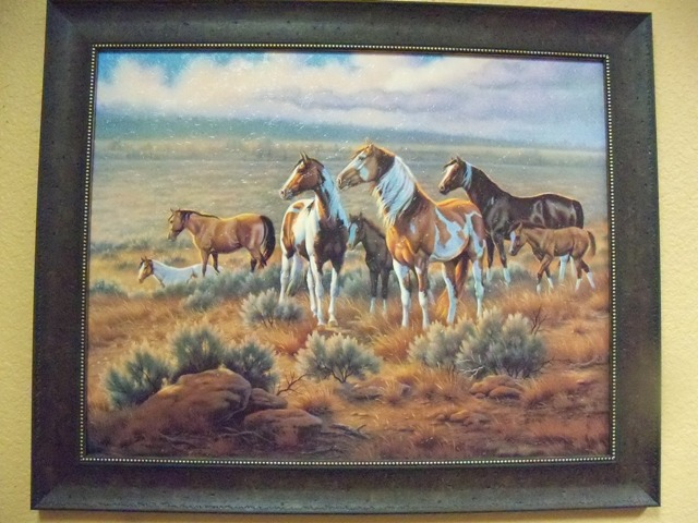 J. Gibson Running Painted Horses