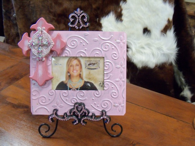 Bling Cross Photo Frame with Easel