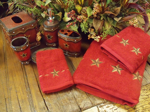 Red Star Bathroom Towel