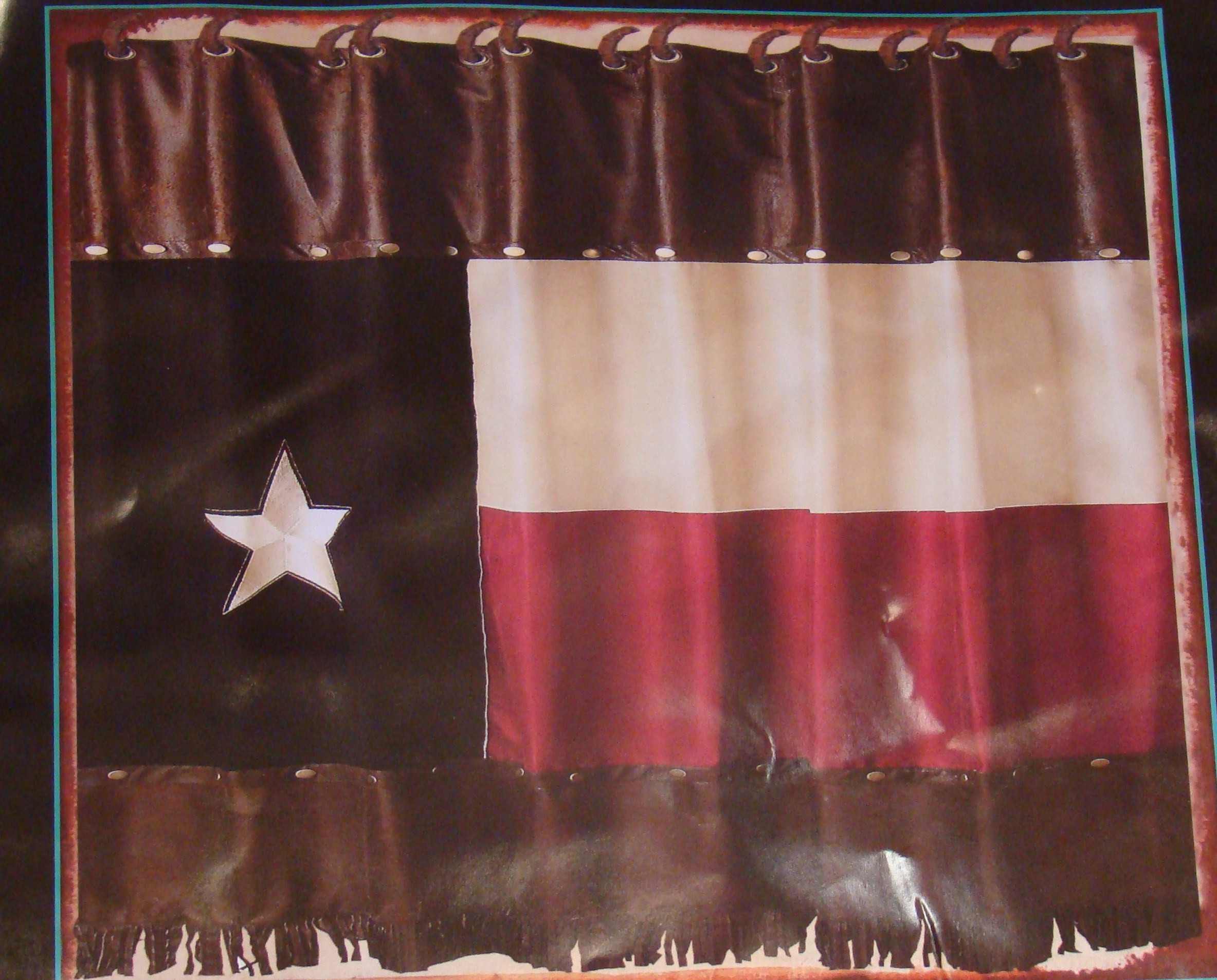 Rustic TX Flag Shower Curtain