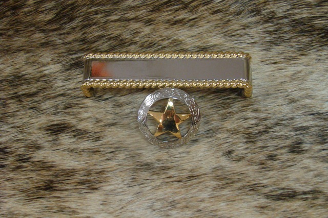 Silver and Gold Star Cabinet Pull