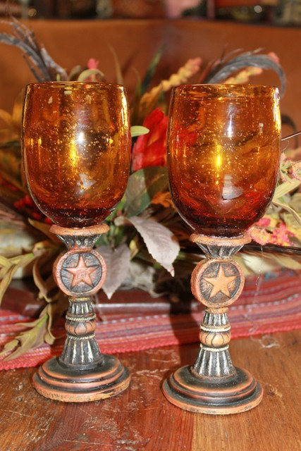 Silverado Amber Wine Glasses