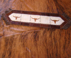 Small Longhorn Cowhide Runner