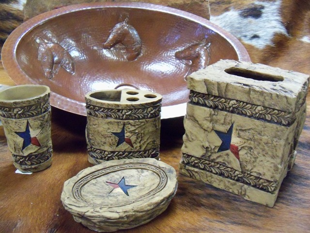 stone star bath decor With texas star bathroom decor