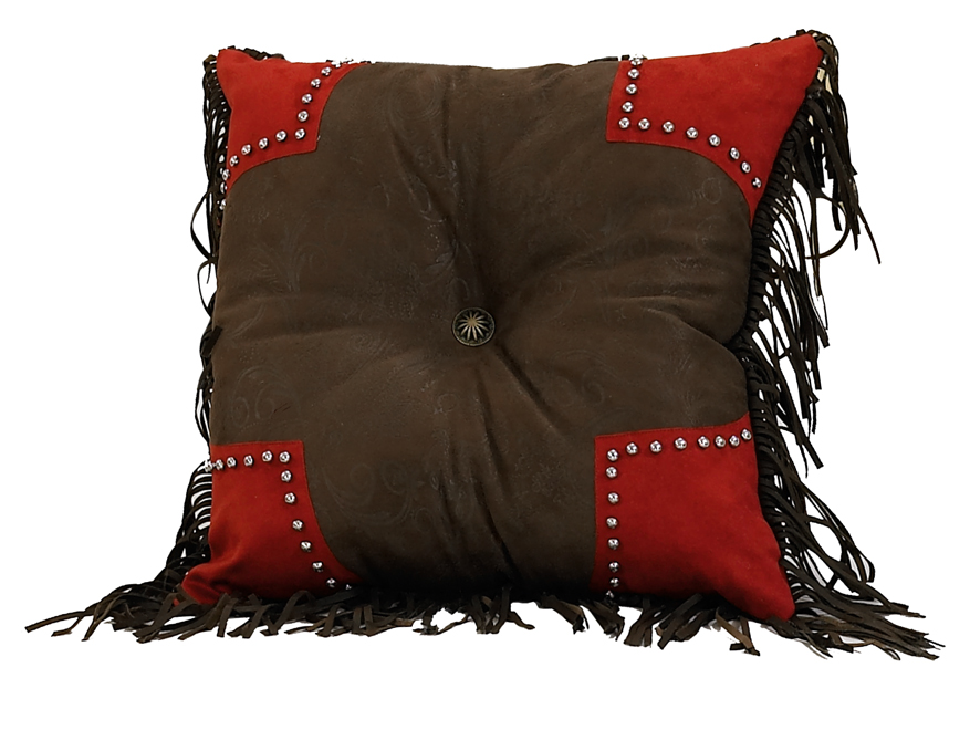 Red Rodeo Scallop Pillow