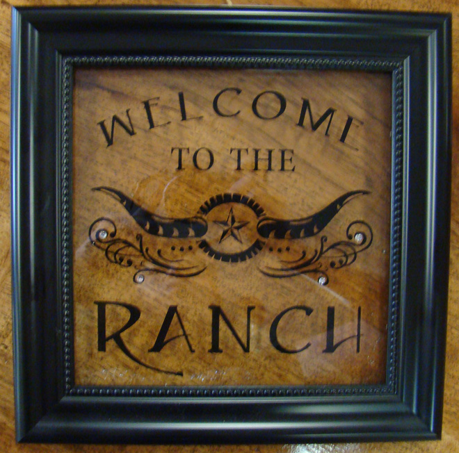 Welcome to the Ranch - wall art