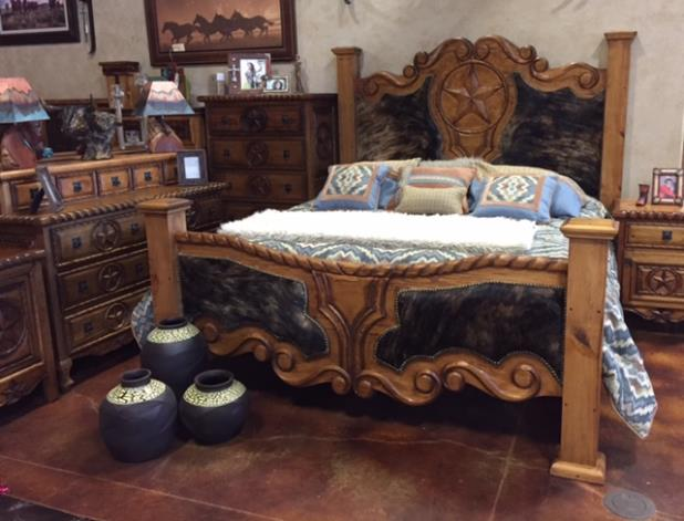 King Size - Hand Carved Bed
