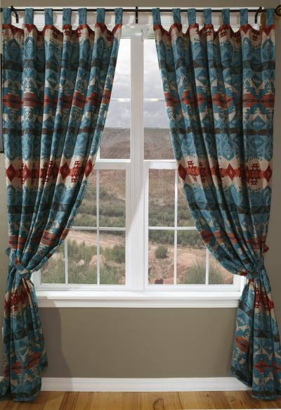 Turquoise Chamarrow Curtains