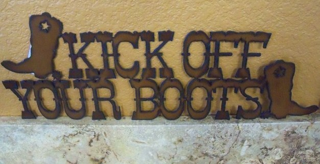 Kick off your boots