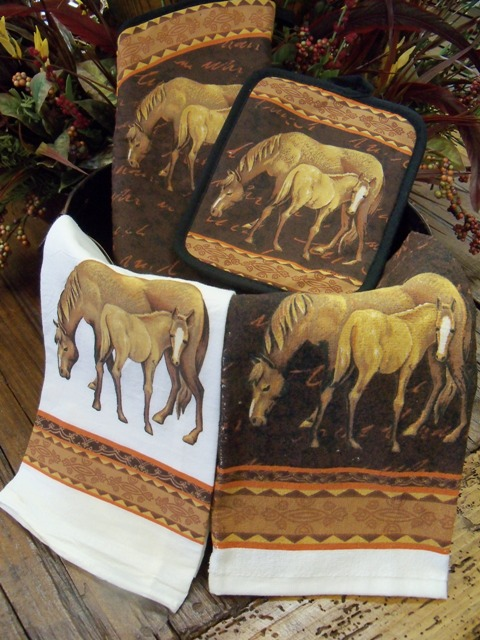 Mare and Foal Kitchen Towels