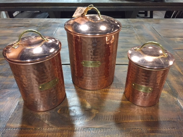 Mud Pie Copper Canisters