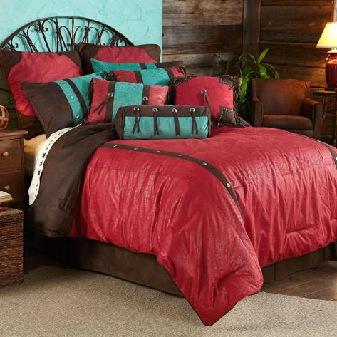 Red Cheyenne Bedding Set