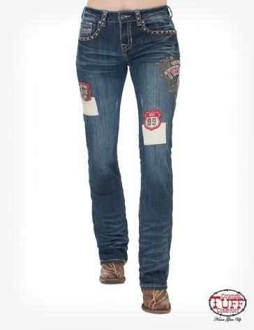 Patched Up Cowgirl Tuff Jeans