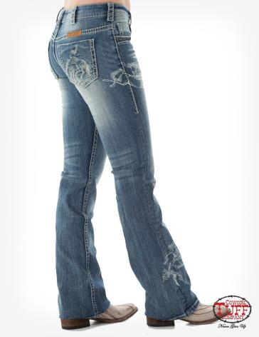 Rodeo Cream Cowgirl Tuff Jeans