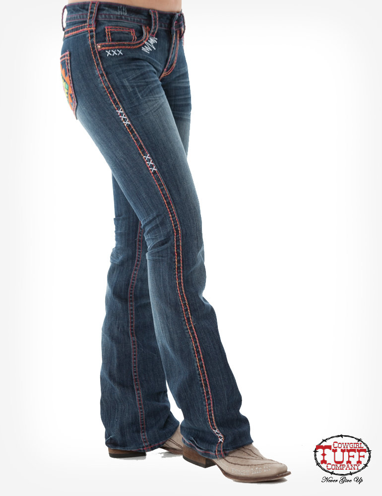 Southwest Vibe Cowgirl Tuff Jeans