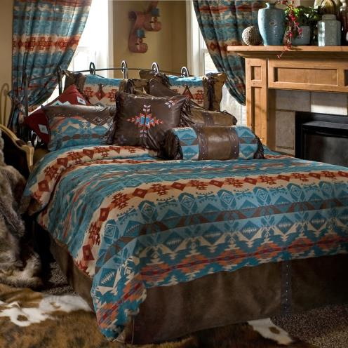 Turquoise Chamarrow Bedding Decor