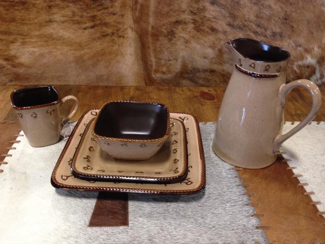 16pc Rustic Ranch Dishware