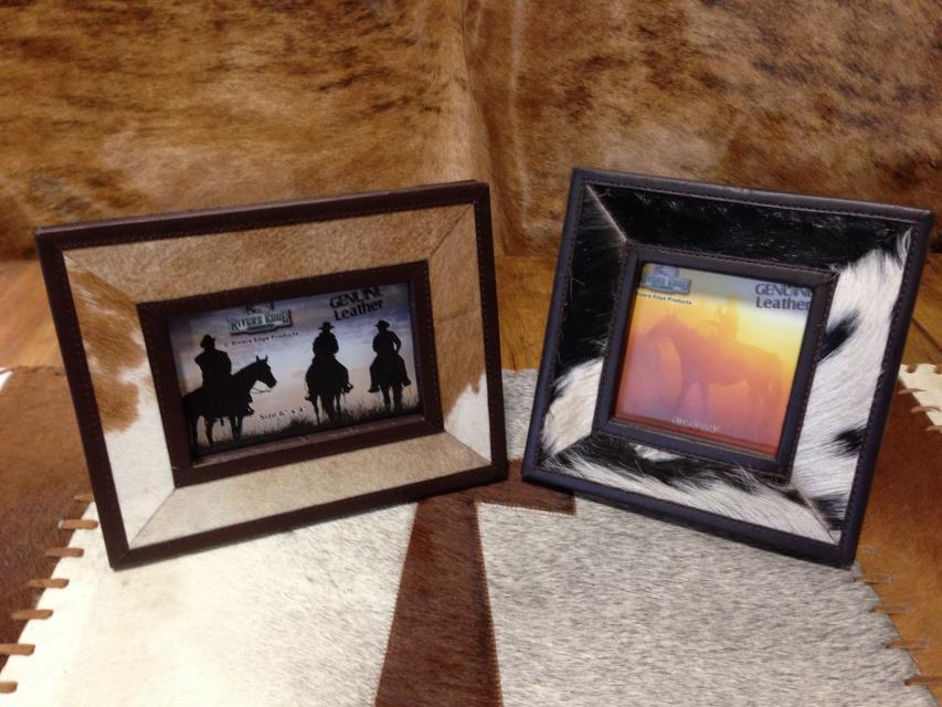 Cowhide Photo Frame