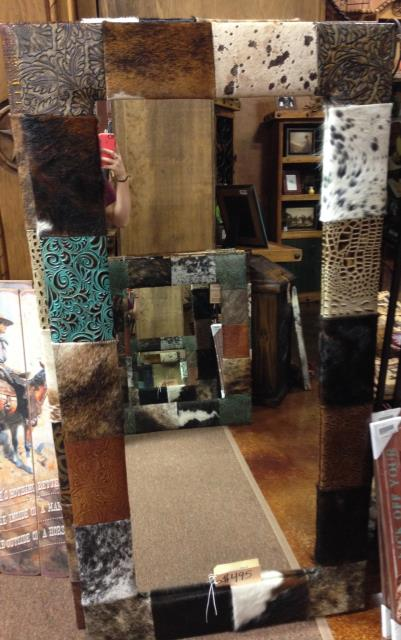 Cowhide Mirror